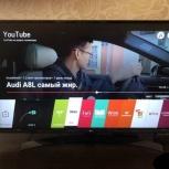 новый телевизор 4К lg 43uj634v на гарантии+чек+коробка, Челябинск