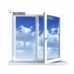 Окно ПВХ Rehau Blitz 1000х1000 (2С/3К) Поворотное, Челябинск