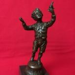Винтажная бронзовая статуэтка Мальчик Франция, Челябинск