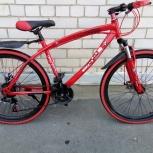 Велосипед горный BMW на спицах 24 скорости Красный, Челябинск
