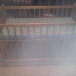 Детская кроватка импортная с матрасом, Челябинск