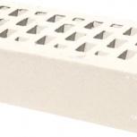 Лицевой керамический кирпич TEREX Дюна белый гладкий облицовочный, Челябинск