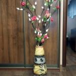 Ваза с декоративными цветами, Челябинск