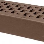 Лицевой керамический кирпич TEREX Какао темно-коричневый гладкий, Челябинск