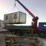 Перевозка гаражей, бытовок, павильонов, негабарит манипулятором, Челябинск