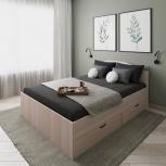 Новая двуспальная кровать 50 с ящиками, Челябинск