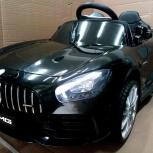 Детский электромобиль Mercedes-Benz AMG GTR черный, Челябинск