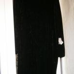 Новое короткое платье, бархат, р.46, Челябинск
