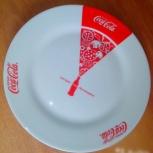 Тарелка для пиццы Coca-Cola/Кока Кола 27см, Челябинск
