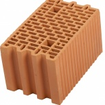 Крупноформатные керамические камни Porotherm 25 для кладки стен, Челябинск