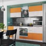 Новая кухня Дуэт-1 бело-оранжевый, Челябинск