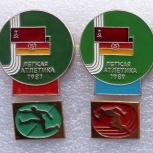 Значки матч ссср г.Д.Р. Легкая атлетика 1987-1989, Челябинск