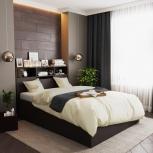 Новая двуспальная кровать 09 с прикроватным блоком, Челябинск