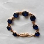 Продам  женский браслет, 585пр.с сапфирами., Челябинск