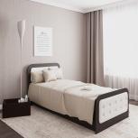Новая односпальная кровать N45 с мягкими накладками, Челябинск