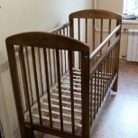 Кроватка Мой малыш 9 продольное качание Орех, Челябинск
