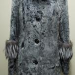 Утепленное пальто из козлика с чернобуркой, Челябинск