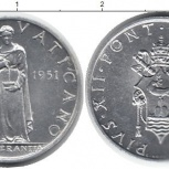Монета с изображением женщины 1951 Ватикан, Челябинск