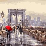 Набор для раскрашивания: «Мост во время дождя». Размер: 40х50см., Челябинск