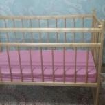 Кроватка детская на колёсиках практически новая, Челябинск