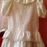 134-146 нарядное, белое, кружевное платье, Челябинск