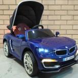 Детский электромобиль BMW кабриолет синий, Челябинск