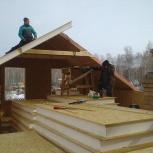 Строительство мансарды из сип панелей ОСП и ЦСП, Челябинск