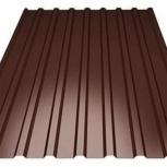Профнастил C10. Цвет шоколад, дву, Челябинск