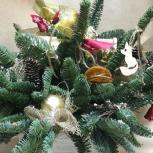 Живая ель новогодний букет елочная композиция, Челябинск