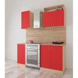 Новая кухня джаз мини-1, красная, Челябинск