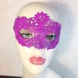 Кружевная маска цвет фуксия, Челябинск