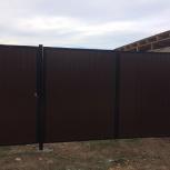 Изготовление и монтаж распашных ворот из профнастила, Челябинск
