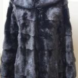 Женская норковая шуба с капюшоном длина  70 см, Челябинск