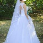 Свадебное платье в подарок фата, диадема, перчатки, Челябинск