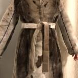 Шуба из Нерпы с воротником из Норки от Afrodite Furs, Челябинск