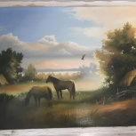 """Картина маслом """" Летние травы """", Челябинск"""