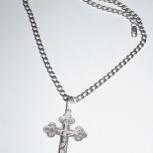 Цепь+ крест серебро, Челябинск
