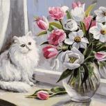 Рисование картин (Холст).  «Весна на окошке».  30*40см., Челябинск