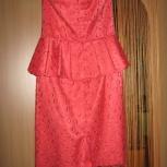 Платье кораллового цвета новое из гипюра, Челябинск