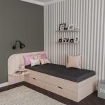 Новая односпальная кровать 56 с ящиками, Челябинск