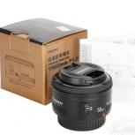 Объектив 50 1.8 для Canon новый, Челябинск