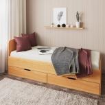 Новая односпальная кровать №76 с ящиками, Челябинск