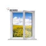 Окно ПВХ Rehau Blitz 600х600 (1С/3К) Поворотное, Челябинск