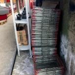 Корзина покупательская 22 литра (хром) 100 шт, Челябинск