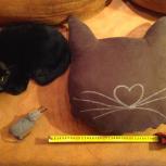 Котоподушка Подушка с котиком Интерьерная подушка, Челябинск