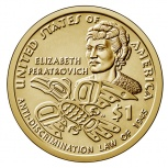 США 1 доллар 2016-2020 Сакагавея, Челябинск
