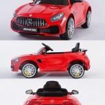 Детский электромобиль Mercedes-Benz AMG GTR красный, Челябинск