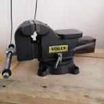 """Тиски слесарные STALEX """"Горилла"""", 125 х 100 мм., 360°, 11,0 кг., Челябинск"""