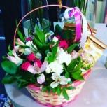 Изготовлю корзину с цветами живыми, Челябинск