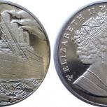 Монета редкая Титаник Острова Мэн- 1 крона, Челябинск